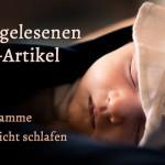 Die 3 meistgelesenen Babyschlaf-Artikel