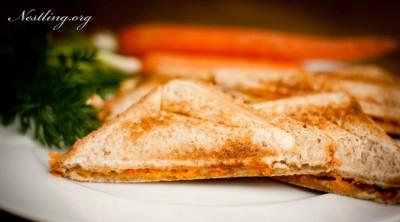 Käse-Karotten-Sandwich